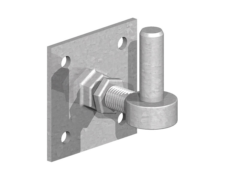 Hook on Plate Adjustable 100x100x19mm Pin