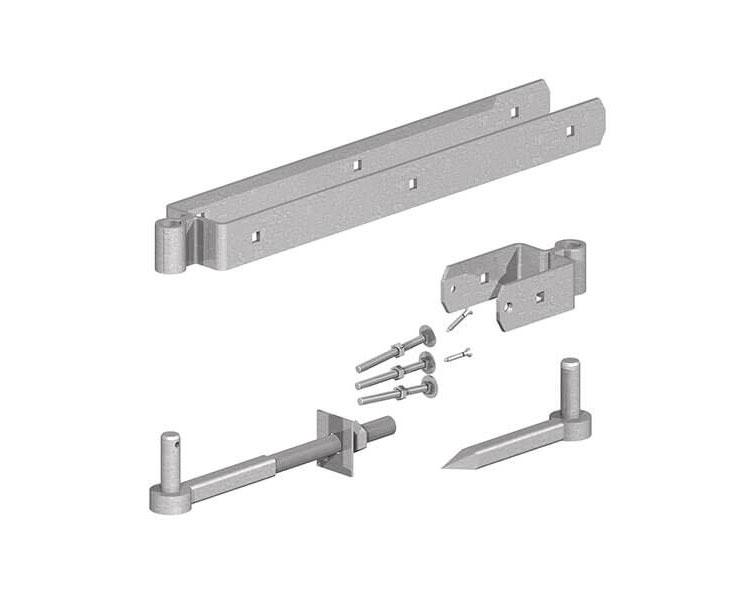 Std F/Gate Hinge Set Galv 305mm P/P