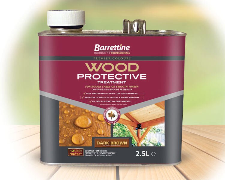 Wood Protective D/Brown 2.5 ltr