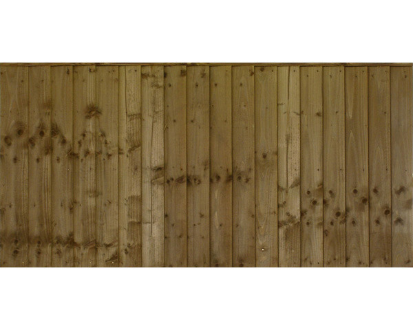 Featheredge Panel 1.83m x 0.91m Pressure Treated Green