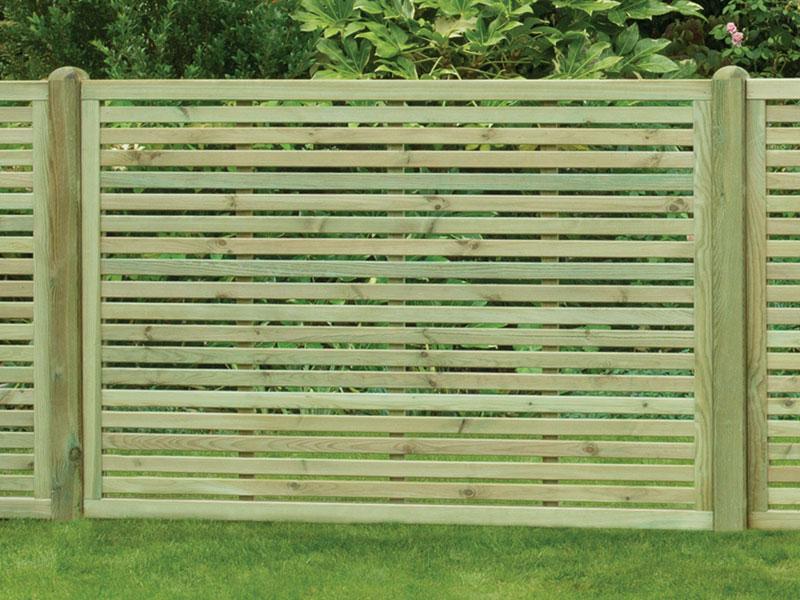 Harmony (Slatted) Panel 1.2m x 1.8m Pressure Treated Green