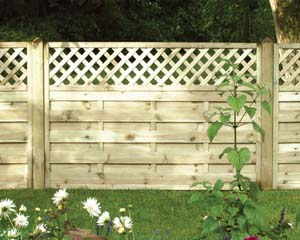 Horizontal Lattice Top Fence Panel