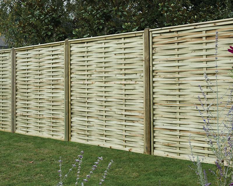 Premium Woven Panel 1.80m x1.80m Pressure Treated Green