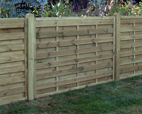 Square Horizontal Panel 1.80m x 1.20m Pressure Treated Green
