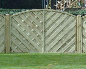 V Arched Fence Panel