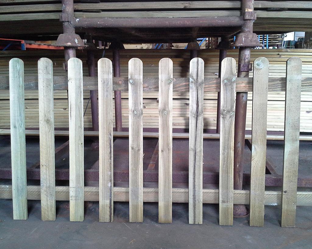Newbury Palisade Panel Round Top 1.83m x 0.91m Pressure Treated Green