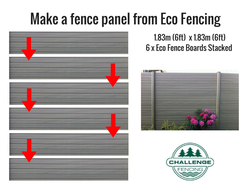 PVC Eco Fence Board 1.828m - Graphite (Grey)_1
