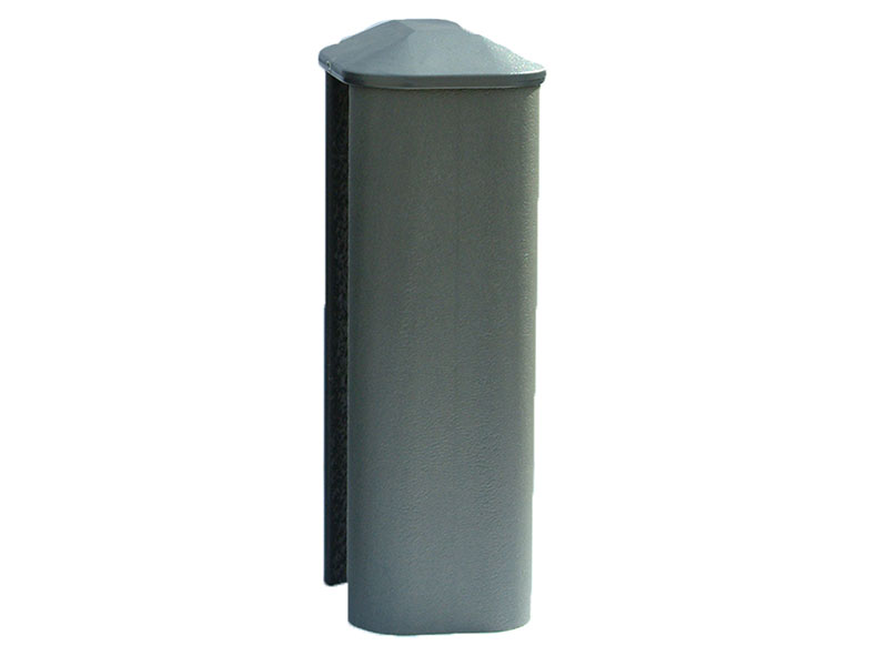 PVC Eco Fence Post 1.8m - Graphite (Grey)