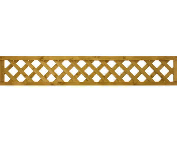 Diamond Trellis Panel 1.83m x 0.31m Dip Treated Golden Brown
