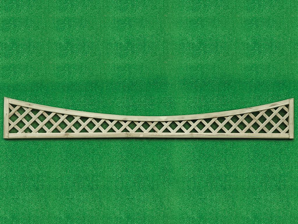 Diamond Lattice Concave 0.27m x 1.83m Pressure Treated Green