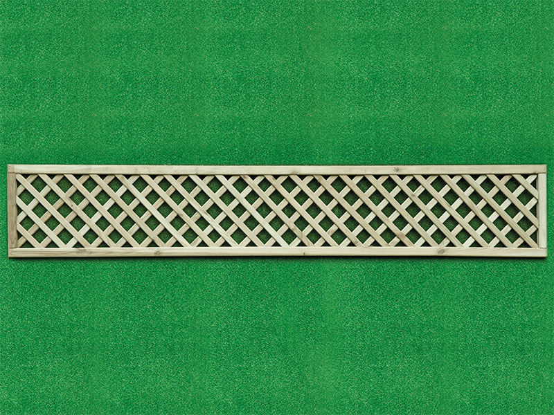 Diamond Lattice Square 0.30m x 1.83m Pressure Treated Green
