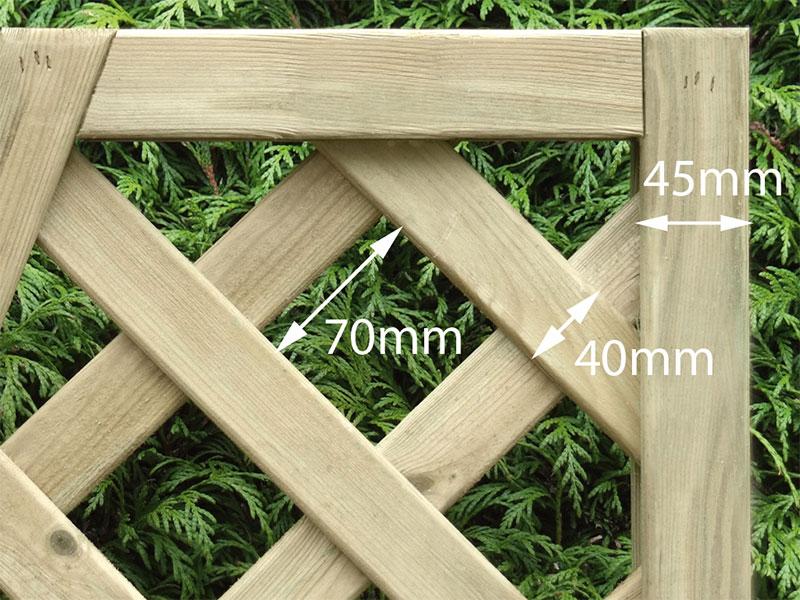 Heavy Dia Lattice Panel Convex 0.30m x 1.80m Pressure Treated Green_1
