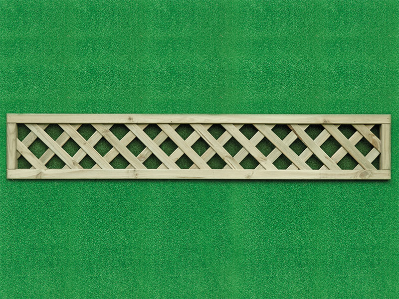 Heavy Dia Lattice Panel Square 1.80m x 0.30m Pressure Treated Green