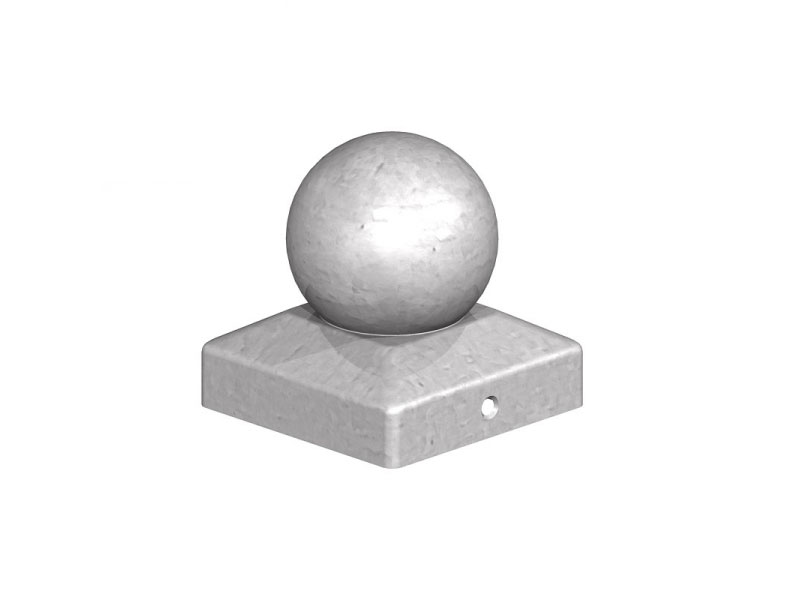 Metal Post Cap   Ball 100mm x 100mm Galvanised