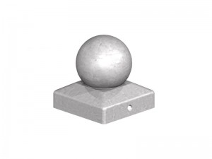 Metal Post Cap with Ball 100mm Galv