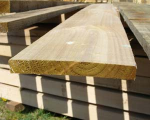 22mm x 175mm 3.6m Timber Board Pressure Treated Green