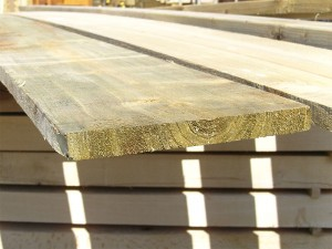 22mm x 200mm 3.6m Timber Board Pressure Treated Green