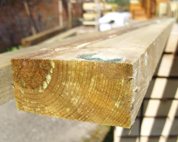 47mm x 100mm 3.6m C16 Timber Rail Pressure Treated Green