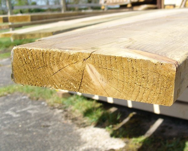 47mm x 200mm 4.8m C16 Timber Board Pressure Treated Green