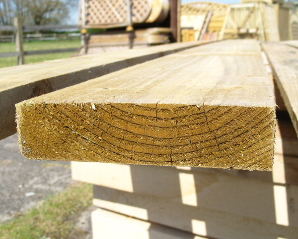 47mm x 200mm 3.0m Timber Board Pressure Treated Green