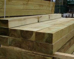 New Railway Sleeper Green 2.4m 200x100mm