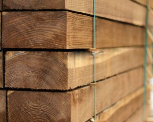 New Railway Sleeper Brown 2.4m 225x125mm