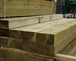 New Railway Sleeper Green 2.4m 225x125mm