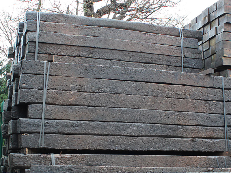Old Reclaimed Sleeper Creosote Treated 2.6m 250x150mm