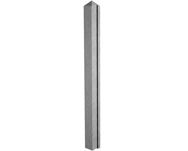1.83m Concrete Slotted Post End