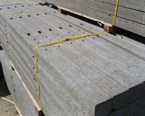 Concrete Morticed Intermediate Post