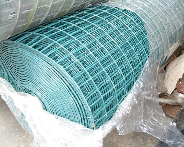1.0m 100x60mm 5m Weldmesh Green PVC