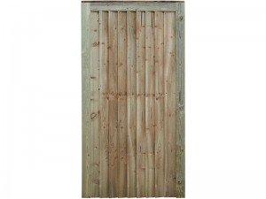 Featheredge Gate Flat Top - Height 1.75 metres