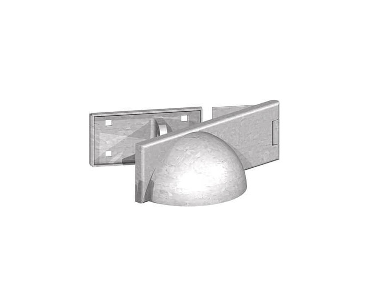 Padlock Protector 185x60mm Galv LH