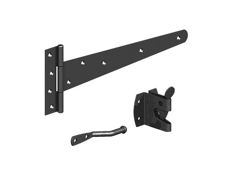 Pedestrian Side Gate Kit Auto Latch Black