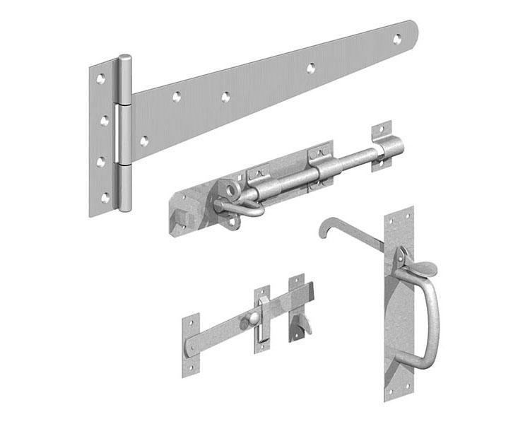 Side Gate Kit (Suffolk Latch) BZP P/P