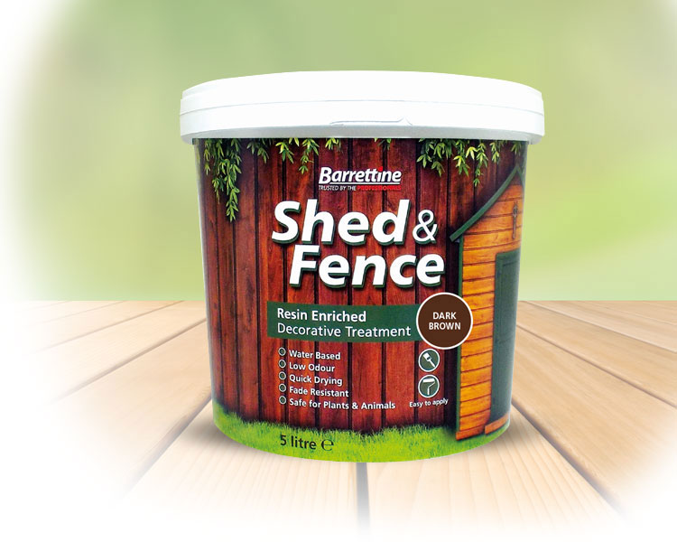 Shed   Fence Treatment Dark Brown 5 ltr
