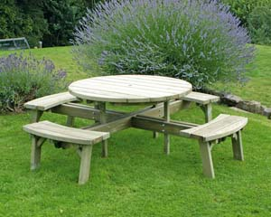 Large Circular Picnic Table