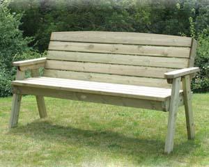 Dean Three Seater Garden Bench