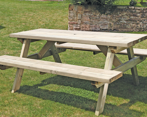 Large Rectangular A Frame Table