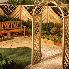 Trellis Archway and Matching Fence Panels